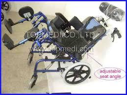 aluminum chair frame high back reclining wheelchair for cerebral