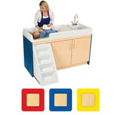 Changing Table With Sink Walk Up Changing Table With Left Sink And Right Stairs