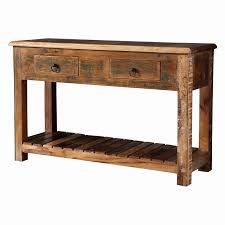 salvaged wood console table reclaimed wood sofa table style coaster furniture reclaimed wood