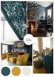color palette inspo dark teal and mustard paint colours accent