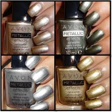 wendy u0027s delights avon metallic effects nail polish frosted