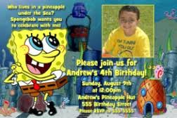 spongebob birthday invitations boy or