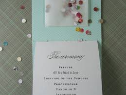 diy wedding program how to moglea diy wedding programs julep