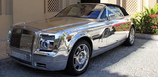 roll royce dubai the crown prince u0027s rolls royce phantom chrome maybe maybe not