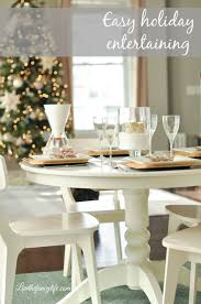 a simple holiday dinner table setting with soma we
