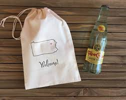 out of town guest bags hotel pennsylvania etsy