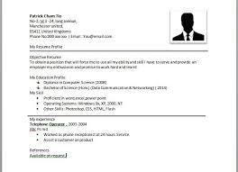 simple resume format exles sle of a simple resume format resume template simple exles of