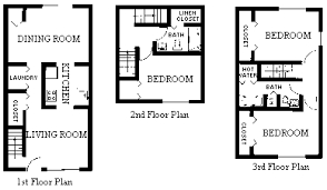 boston apartments harbor point 3 bedroom duplex floor plan type w