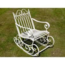 Garden Rocking Chair Uk Prestwich Avenue Wrought Iron Garden Rocking Chair Black