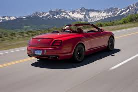 bentley sports car rear 2011 bentley continental supersports convertible on the road u2013 video