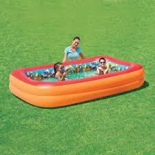 Backyard Inflatable Pool by Bestway 3d Interactive Adventure Rectangular Inflatable Pool 8 5
