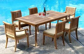 6 Seat Patio Dining Set 7 Piece Grade A Teak Dining Set U2013 94