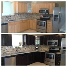 restain kitchen cabinets darker staining kitchen cabinets simplir me
