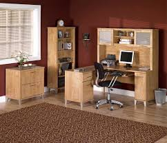 shelf floor l with home office modern traditional maple wood l shaped desk complete