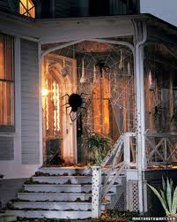spooky porches spiders martha stewart