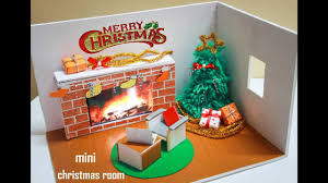 Home Decor Tutorial by Home Decor Tutorial Diorama Miniature Christmas Rooms Youtube