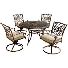 Swivel Rocker Patio Dining Sets Hanover Traditions 5 Patio Outdoor Dining Set With 4