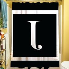 Restoration Hardware Shower Curtains Designs Monogrammed Shower Curtains Teawing Co