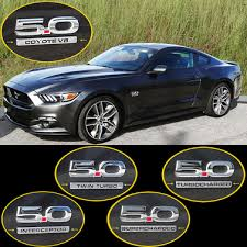 ford mustang emblem 11 15 ford mustang emblem finisher chrome set upr