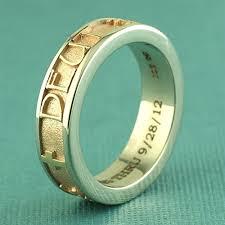 name ring two tone gold name ring