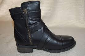 ugg womens finney boots ugg australia finney womens black leather moto boots sz 8 ebay