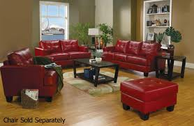 Red Sofa Furniture Samuel Red Leather Sofa And Loveseat Set Steal A Sofa Furniture