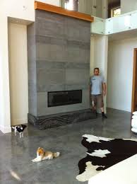 Tiled Fireplace Wall by Mode Concrete Contemporary Concrete Fireplace Tiles Are All The