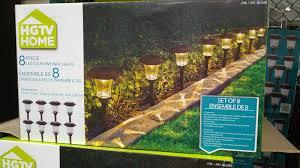 Solar Lantern Lights Costco - hgtv home 8 piece led solar pathway lights costco weekender