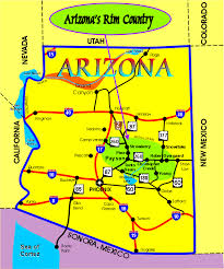 map of arizona map of arizona s country on rimcountry