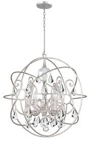 Crystal Sphere Chandelier Crystorama Lighting Group 9028 Eb Cl Mwp English Bronze Solaris 6