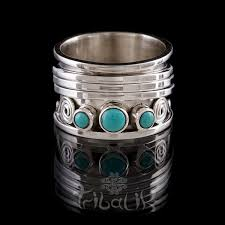 silver rings stones images Silver meditation ring with turquoise stones jpg