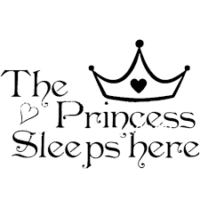 bestnow the princess wall stickers sleeps here home decoration art