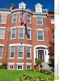 georgian brick townhouse row house washington dc royalty free