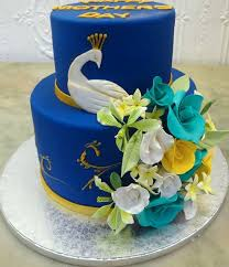 royal peacock and floral cake for mother u0027s day by bettybakery anino