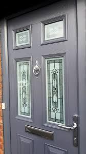 front door glass silvaner glass design in a slate grey front door from www
