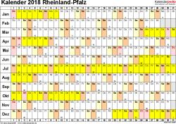 Kalender 2018 Mit Feiertagen Saarland Kalender 2018 Rheinland Pfalz Ferien Feiertage Excel Vorlagen