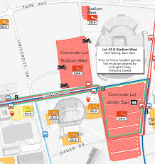 penn state park map stadium and lot 44 penn state