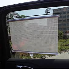 silver auto retractable car curtain front side window shade