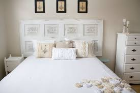 White Wooden Headboard Bedroom Contemporary White Wooden Door Headboard Ideas With