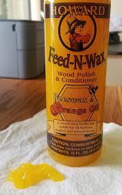 amazon com howard fw0016 feed n wax wood polish and conditioner