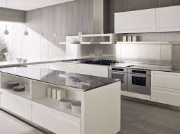 clear plain stainless steel backsplash design with modern white