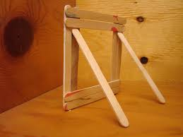 image detail for rear view of popsicle stick picture frame