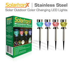 Solar Patio Lights Amazon by Amazon Com Solar Outdoor Lights 4 Color Changing Accent Lamps