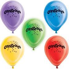 led light up balloons walmart 12 congratulations led light up balloons 5 count walmart com