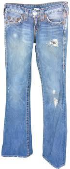 light blue true religion jeans true religion light blue distressed trouser wide leg jeans size 25