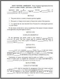 joint venture agreement template word excel templates