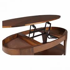 coffee table hammary oasis oval lift top coffee table hayneedle