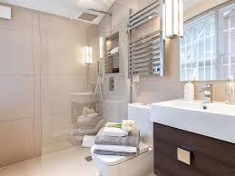 bathroom beige tile curbless shower modern modern lavatory faucet