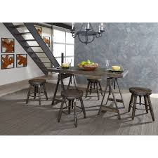 liberty furniture pineville industrial adjustable height table and liberty furniture pineville adjustable height table and stool set item number 170 cd