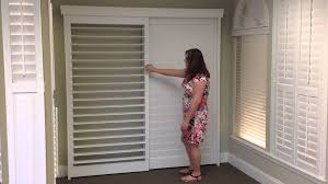 Bypass Shutters For Patio Doors Tracked Shutter Bypass Demo